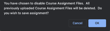 Course Assignment Files